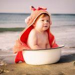A Primeira Experiência do Bebé no Mar