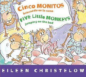 cinco monitos brincando en la cama, libros, eileen christelow