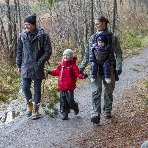 excursión, hijos, portabebés, campo