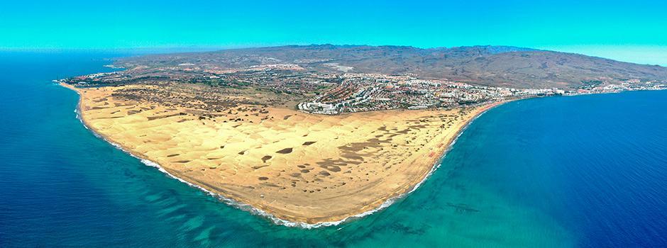 Gran Canaria, Canarias, destino, playa, dunas, Playa del Inglés