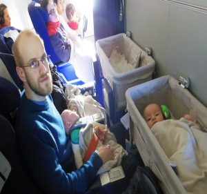 destino, bebés, viajar, padre, madre