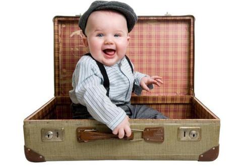 transporte, bebés, viajar con niños, equipaje