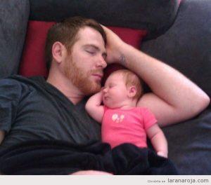 padre, hijo, siesta, dormir, juntos