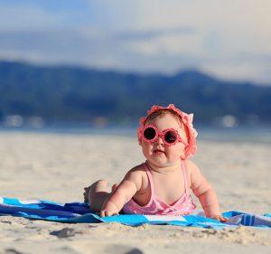 bebé, playa, actividades, verano