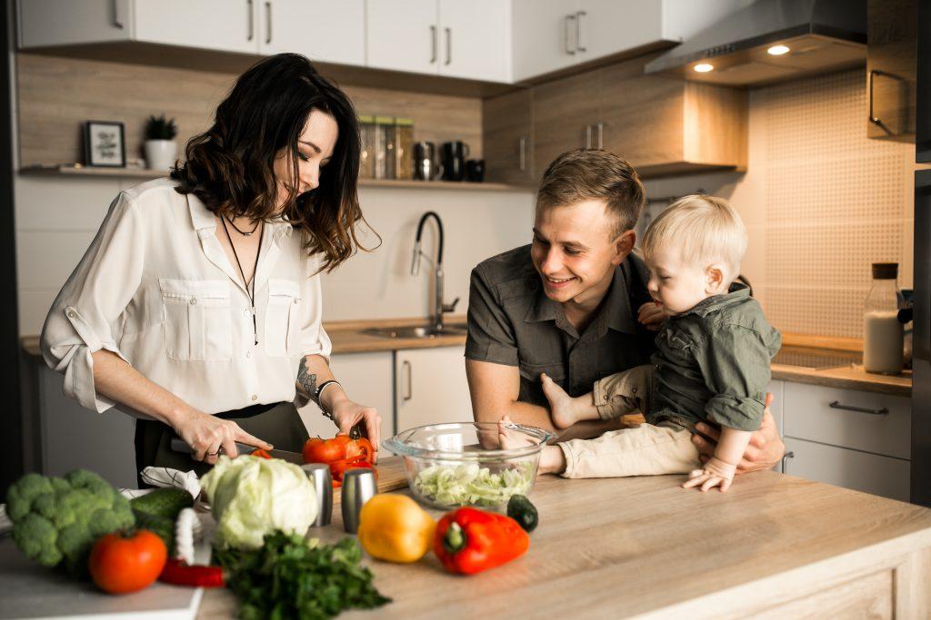 verduras, alimentación, bebé, leche